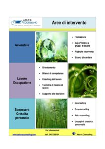 Aree azione counseling